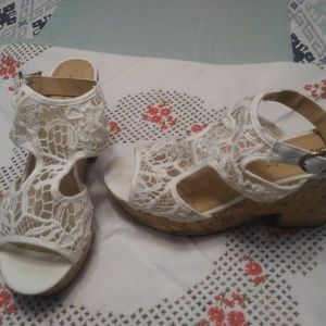 Lacy Heeled Sandals